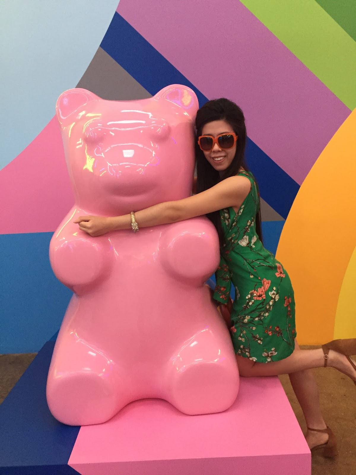 Pink Gummy Bear_Adrienne Nguyen_Invictus_Fashion Blogger_san Diego_museum of ice cream