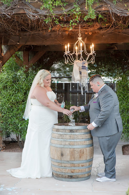 Ceremony at a Shenandoah Mill Lesbian Wedding in Gilbert, AZ