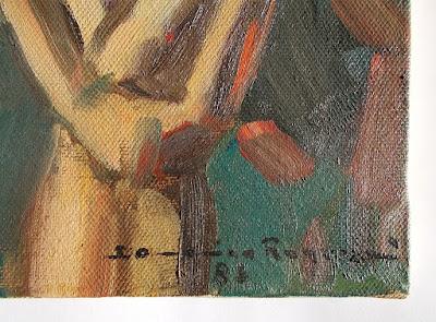- annunciDomenica Regazzoni - nudo femminile - olio su tela - arte