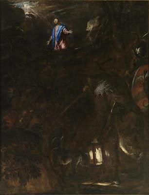 Tiziano - Oración en el Huerto - c. 1561