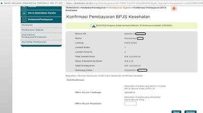 Bayar BPJS Via BNI Internet Banking dan Mobile Banking