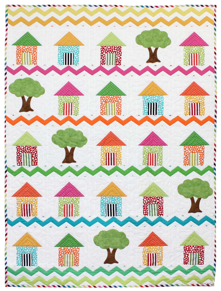 Free pattern day house quilts quilt inspiration for House pattern