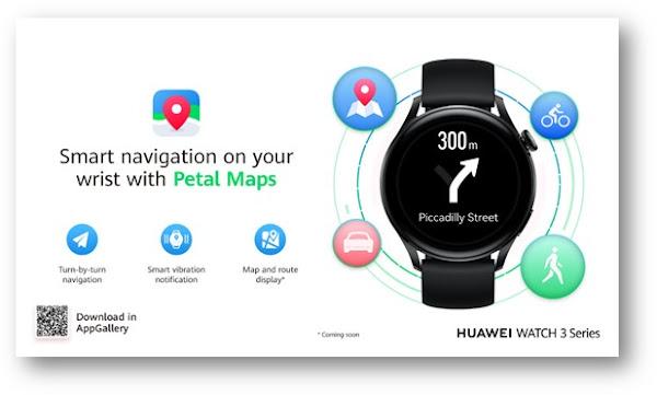 Aplicação de navegação Petal Maps agora disponível na Huawei Watch 3 Series