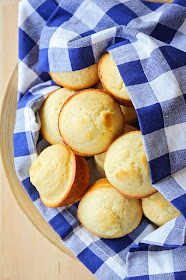 These sweet corn muffins are made with simple ingredients from the pantry, and are the perfect side dish for soup or chili!