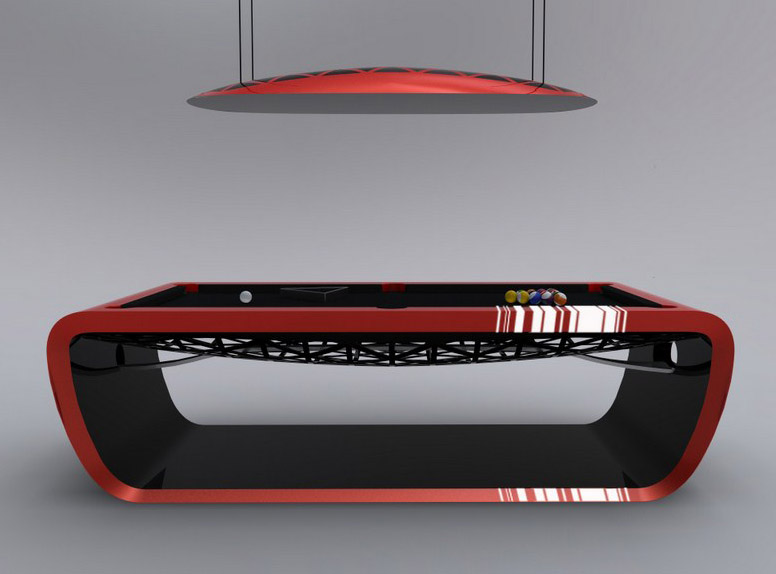 Black Light Billiard Tables By Toulet. Tons Of Colors And Many Cool Options.