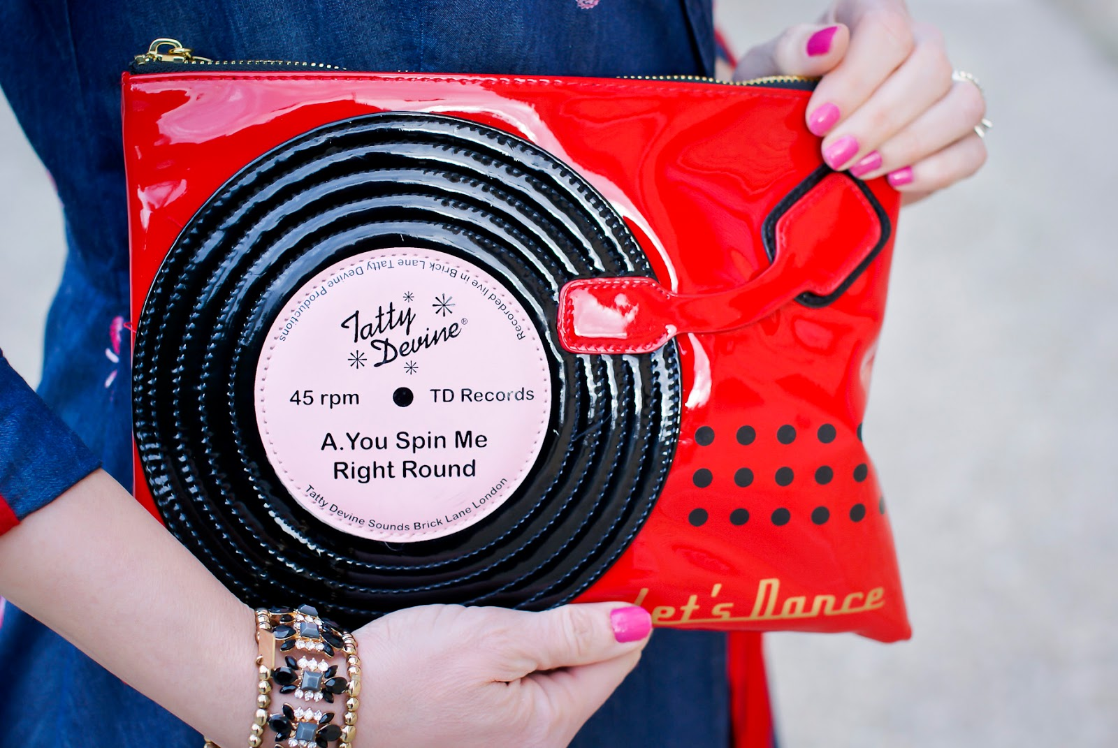 Tatty Devine clutch on Fashion and Cookies fashion blog, fashion blogger style