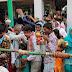 भोलेनाथ के जलाभिषेक के लिए उमड़ी भीड़ में उड़ गई सोशल डिस्टेंसिंग की धज्जी