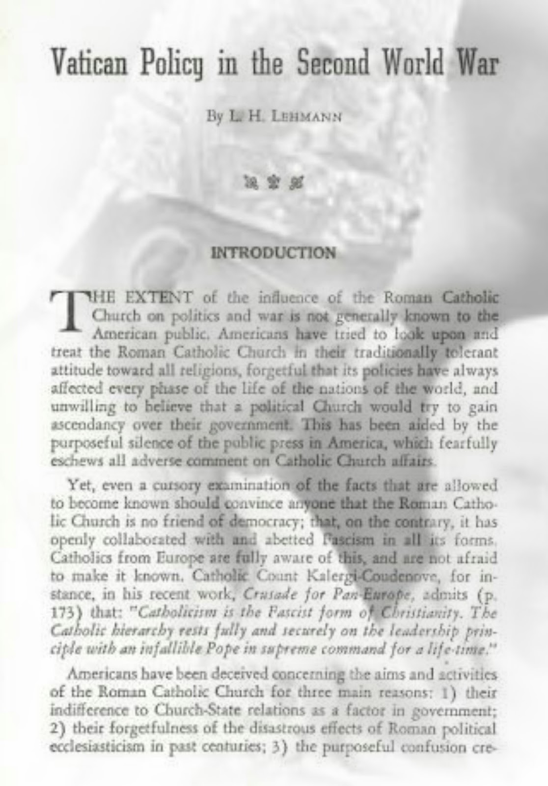 Catholic #NWO New World - Old Order
