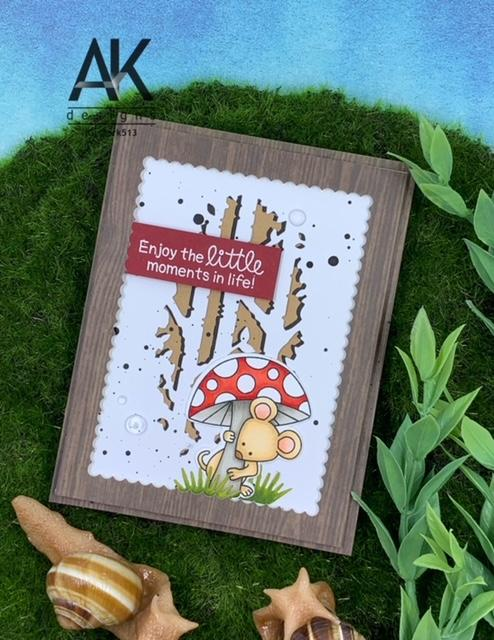 Enjoy the Little Moments in Life Card by May Guest Designer Adam Karle | Garden Mice Stamp Set by Newton's Nook Designs #newtonsnook #handmade