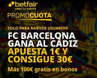 betfair promocuota Barcelona gana Cadiz 21 febrero 2021
