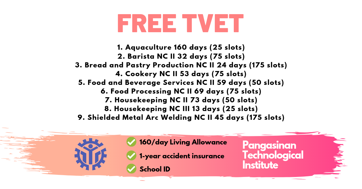 9 Free Training Courses by PTI | TVET Scholarship
