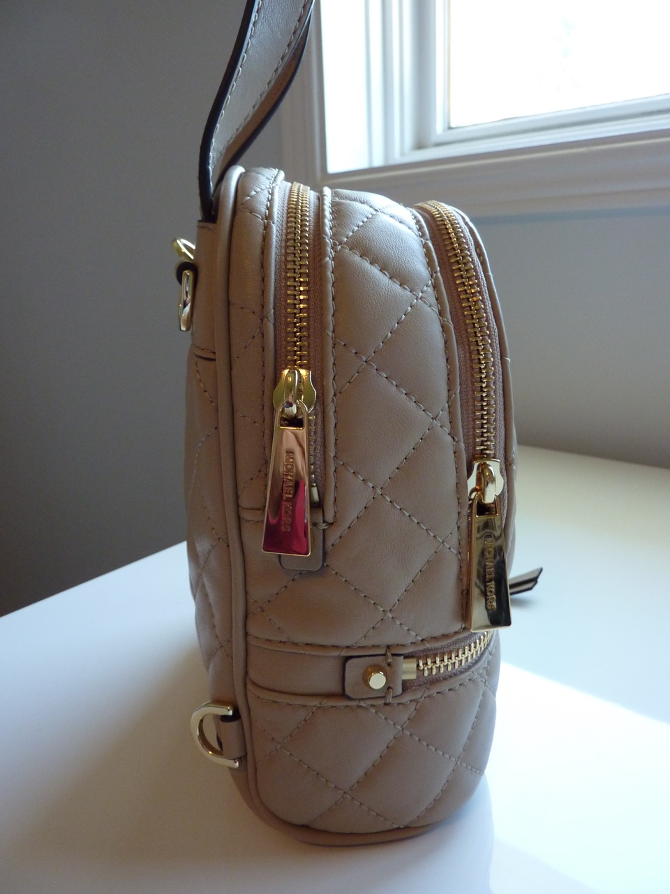 4575a4eb59d3 Shopping Obsession  Michael Kors Rhea Extra Small Quilted Backpack ...