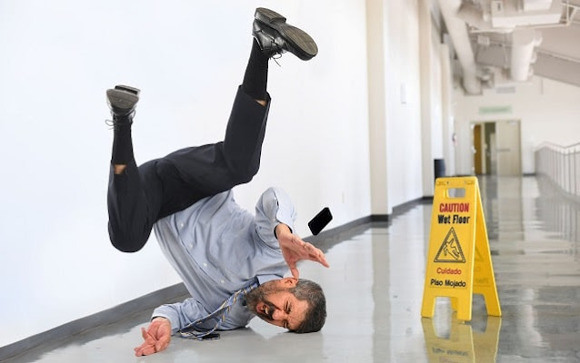 how to avoid workplace injuries office slip and fall accident
