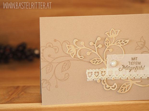 Blühende Worte Stampin up Bastelritter Trauerkarte