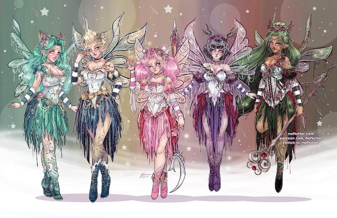 Fan art de las Sailor Moon como hadas by NoFlutter