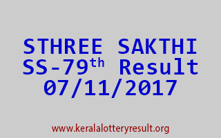 STHREE SAKTHI Lottery SS 79 Results 7-11-2017