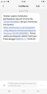 link deposit Indihome