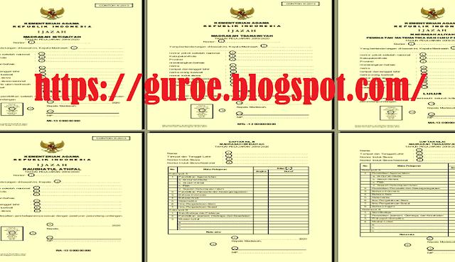 Juknis  Pengisian Blangko Ijazah Tahun 2020 RA, MI, MTS, MA dan  SHUAMBN Tahun 2020