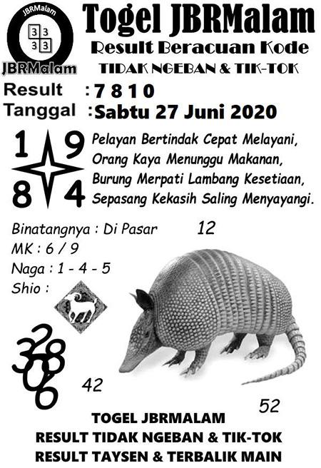 JBR Malam HK Sabtu 27 Juni 2020