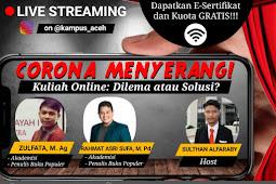 DPM Kampus Aceh Sebut Kuliah Online Menyedihkan, Kenapa?