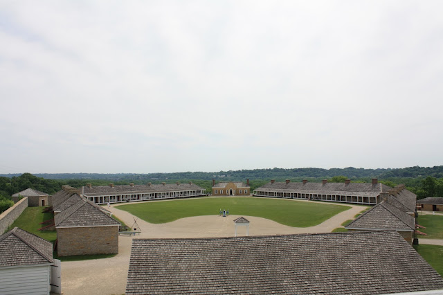 Expansive parade ground at Fort Snelling in St. Paul, Minnesota