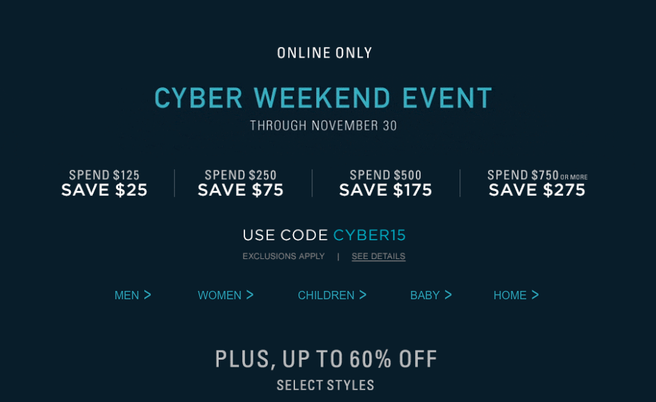 Ralph Lauren Cyber Weekend Event