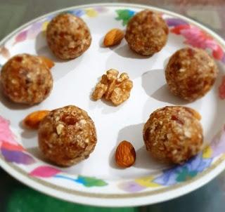 Healthy nuts laddoo