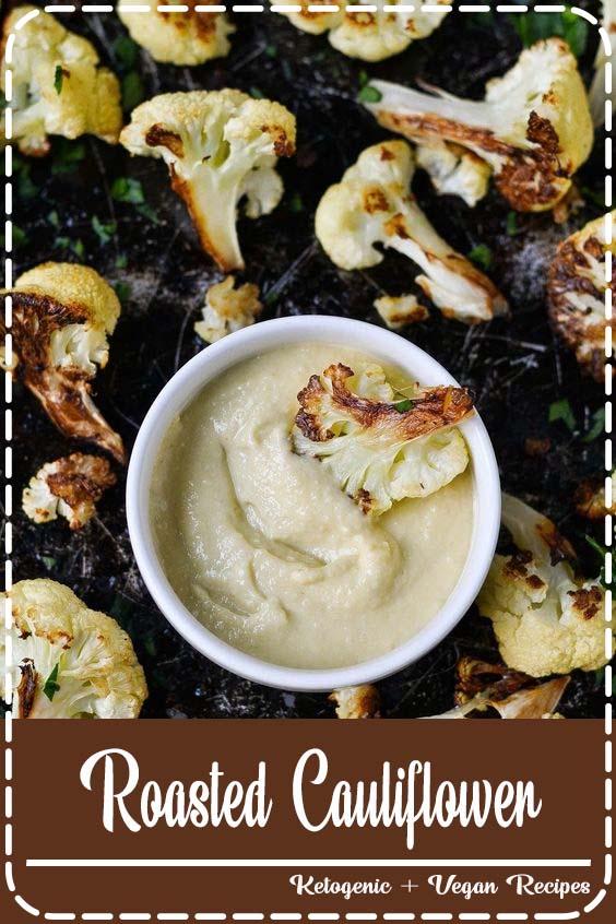 Roasted Cauliflower with Tahini Sauce by applesandsparkles  Roasted Cauliflower