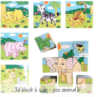 Puzzle Kubus 6 Sisi 3D Block 6 Side
