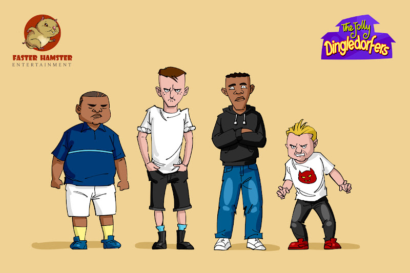 animated cartoon bully character design