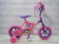 1 Sepeda Anak Disney Princess Pavement Bike 12 Inci