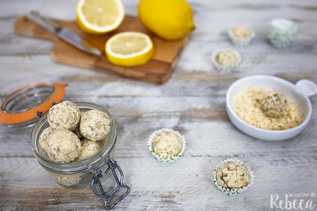 Trufas crujientes de limón