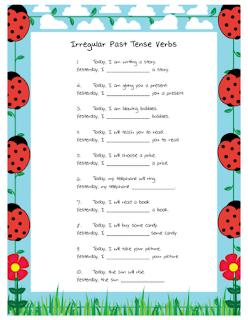 Ms Lane S Slp Materials Grammar Irregular Past Verbs