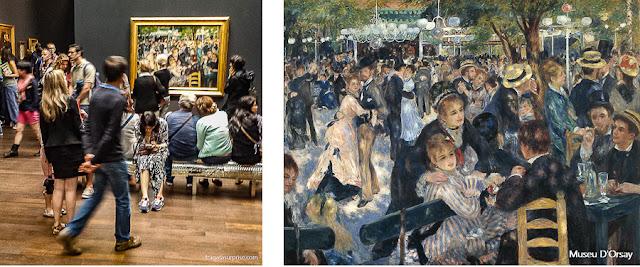 """Tela de Renoir """"O Baile no Moulin de la Galette"""", no Museu D'Orsay, Paris"""