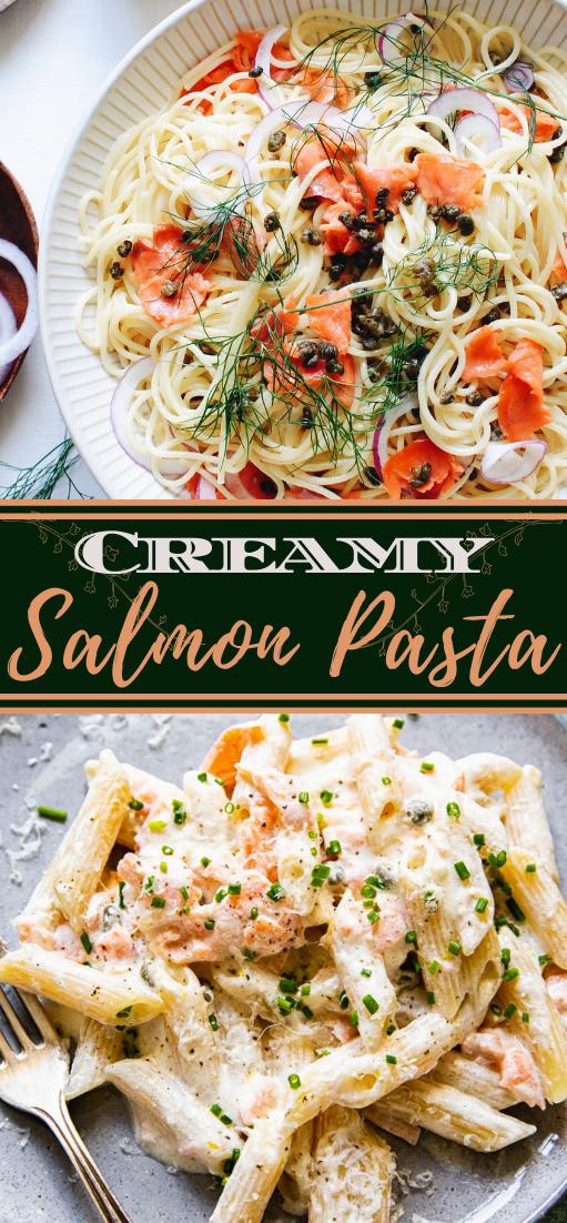 Creamy Salmon Pasta #dinnerrecipe #food #amazingrecipe #easyrecipe