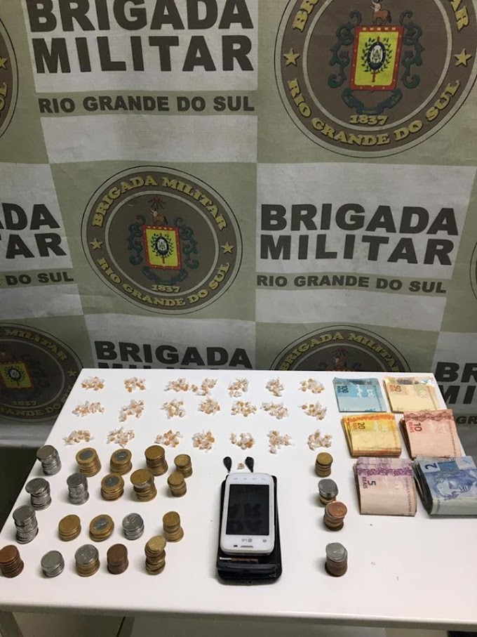 BM realiza prisão, captura foragida e apreende 211 pedras de crack no bairro Granja Esperança em Cachoeirinha