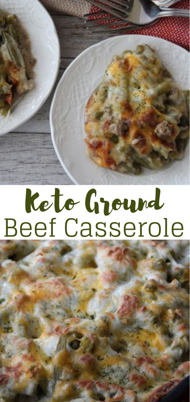 KETO GROUND BEEF CASSEROLE #dietketo #healthy