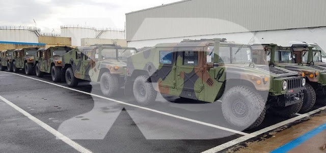 US military vehicles for Kosovo Army in Pristina