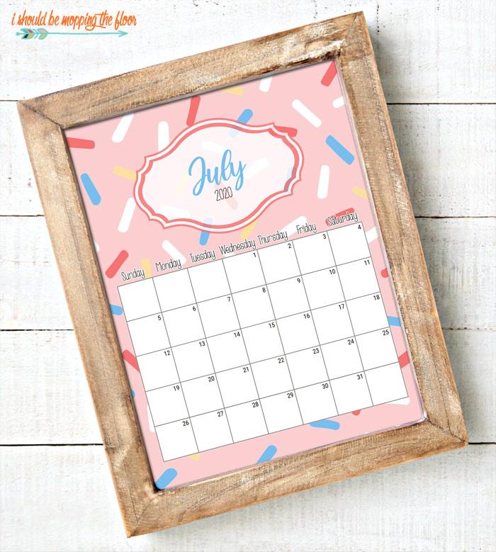 Fun Calendar Printable