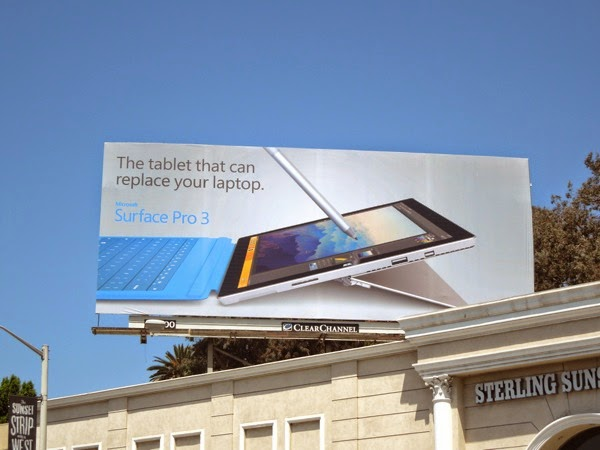 Microsoft Surface Pro 3 tablet billboard