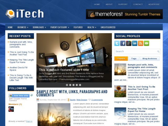 iTech Blogger Template