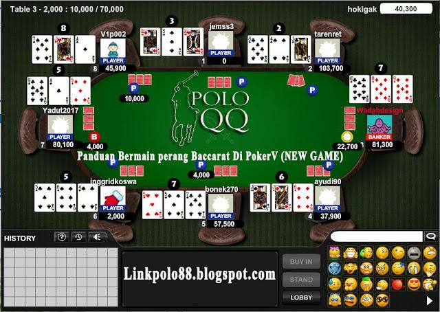 Panduan Bermain perang Baccarat Di PokerV (NEW GAME)
