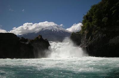 Petrohue Waterfalls, Chile.