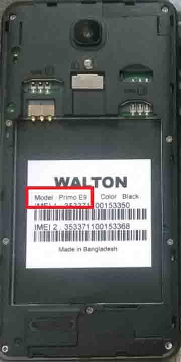 Walton Primo E9 Flash File | Without Password
