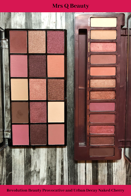 Urban Decay Naked Cherry and Revolution Beauty Reloaded Provocative Palette (Dupe/Alternative)