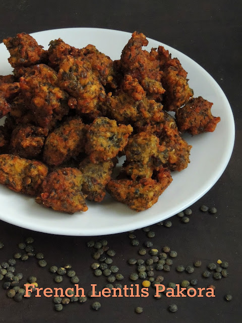 Pakora with French Green Lentils, French Lentils Pakoda