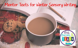 Seasonal Sensory Writing: Winter Bakery.  5-Senses writing.