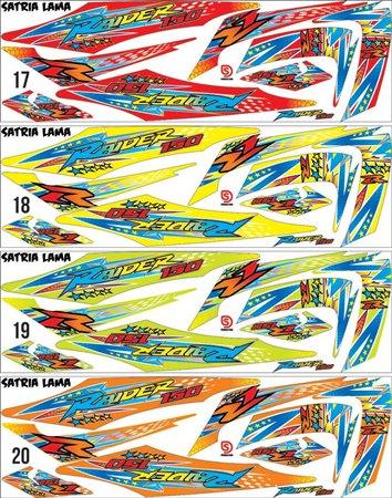 Striping Satria FU grafis desain suka suka