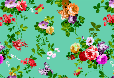 floral water colour textile repeat 7043