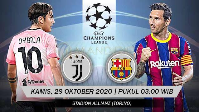 Prediksi Juventus Vs Barcelona, Kamis 29 Oktober 2020 Pukul 03.00 WIB @ SCTV